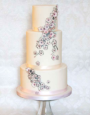Cherry Blossom Cake With Flowers (Price code A)