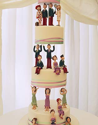 Wedding Figures Cake (Price code B excluding figures)