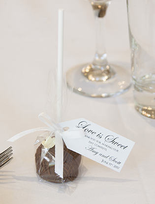 Milk Chocolate Truffle Pop Wedding Favour