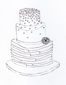 <p>Our Wedding cakes</p>