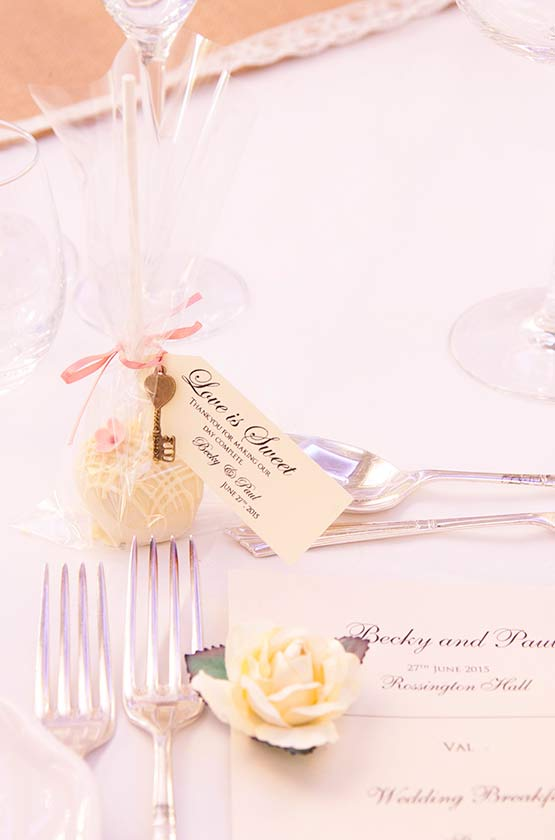 Chocolate Truffle Wedding Favour